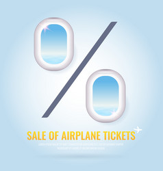 conceptual poster sales and discounts airplane vector image