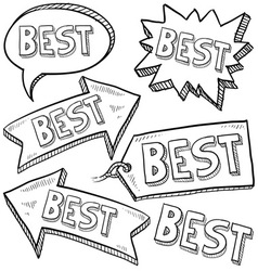 doodle label tag best vector image