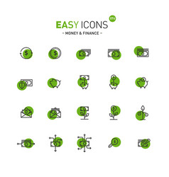 easy icons 07d money vector image