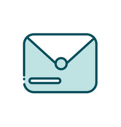 email envelope message social media line and fill vector image