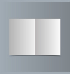 empty horizontal white paper brochure mockup with vector image