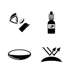 eye lens simple related icons vector image