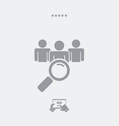 find person flat icon vector image