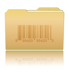 Folder with Bar Code vector image