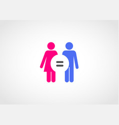 gender equality concept icon vector image