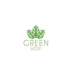 green hop logo vector image