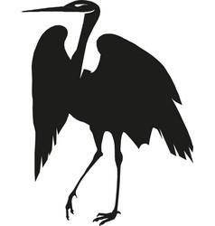 heron silhouette eps 10 vector image