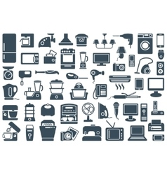 Home appliances icons vector image