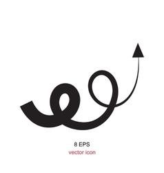 icon arrow vector image