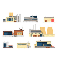 industrial factory and manufacturing plant vector image
