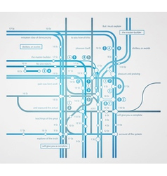Infographics subway transportation plan vector
