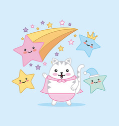 kawaii cartoon image vector image