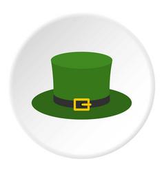Leprechaun hat icon circle vector