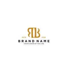 Letter bb logo design vector