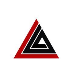 letter l a modern vector image