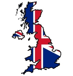 Map in colors of UK vector image