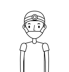 Medical nurse man vector