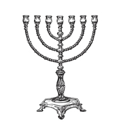 Menorah for Hanukkah Sketch vector