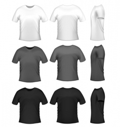men's t-shirts vector image vector image