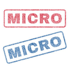 Micro textile stamps vector