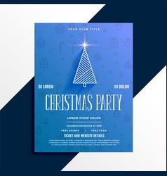 minimal christmas party celebration flyer design vector image