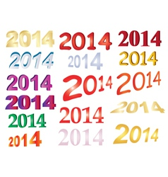 new year signs vector image vector image