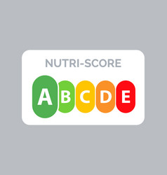 Nutrition label facts health score food info vector