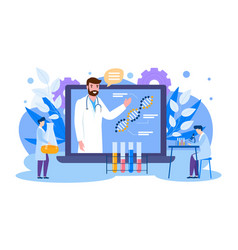 Online education scientists vector