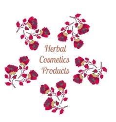 Organic cosmetics product logo Natural vector