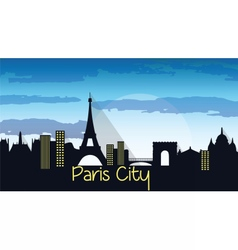 Paris City Silhouette vector image