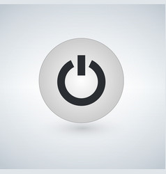 Power button icon simple flat design isolated vector