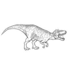 realistic graphic dinosaur vector image