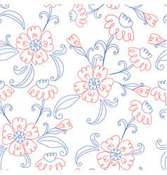 red and blue flowers vector image