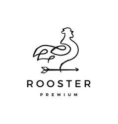 rooster arrow logo icon vector image