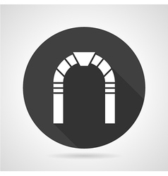 Round arch black icon vector image