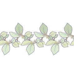 seamless decorative border composed hamamelis vector image
