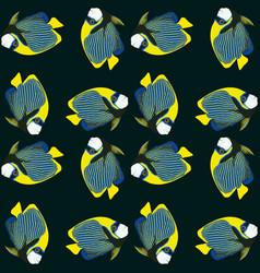 Seamless pattern from swim fish vector