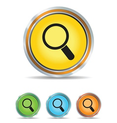 search icon circle vector image