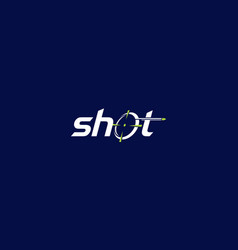 shoot bullets logo icon vector image