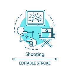 Shooting concept icon vector