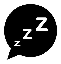 sleeping icon in trendy flat style on white vector image