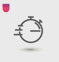 stopwatch simple icon emblem isolated on grey vector image