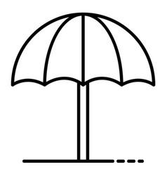 Sun beach umbrella icon outline style vector