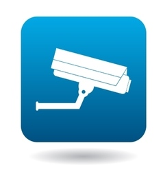 Surveillance camera icon simple style vector