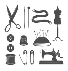 Tailor Icon Set vector image