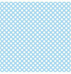 tile pattern with cute white polka dots on blue vector image