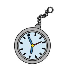 Time clock cartoon vector