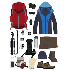 travel items and objects vector image