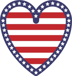 USA Heart vector