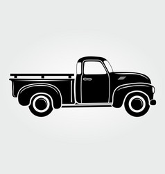 vintage pickup truck retro transport vehicle vector image